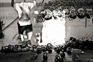 Just you, your shadow, and some kettlebells