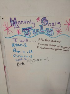 Monthly Goals Are Up!