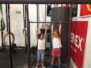 Millie and Sylia: Jumping Pullups!