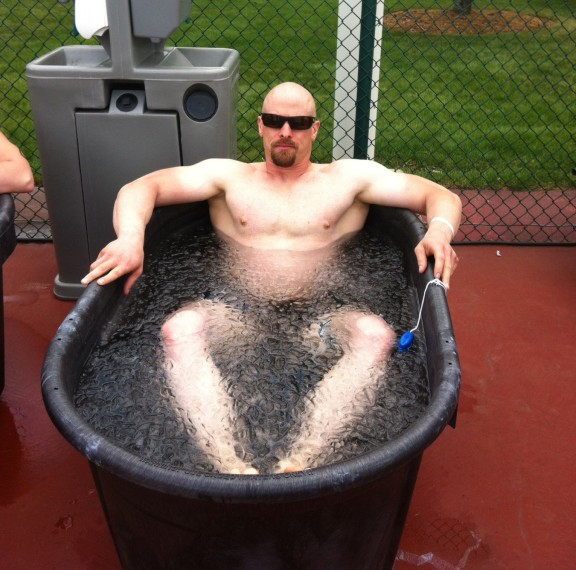 Potsy's so tough he sleeps in an ice bath. Also, Potsy has been seen teaching grizzly bears how to fish bare handed. Not only that, but he uses saplings as tooth picks. The legend of Potsy grows...