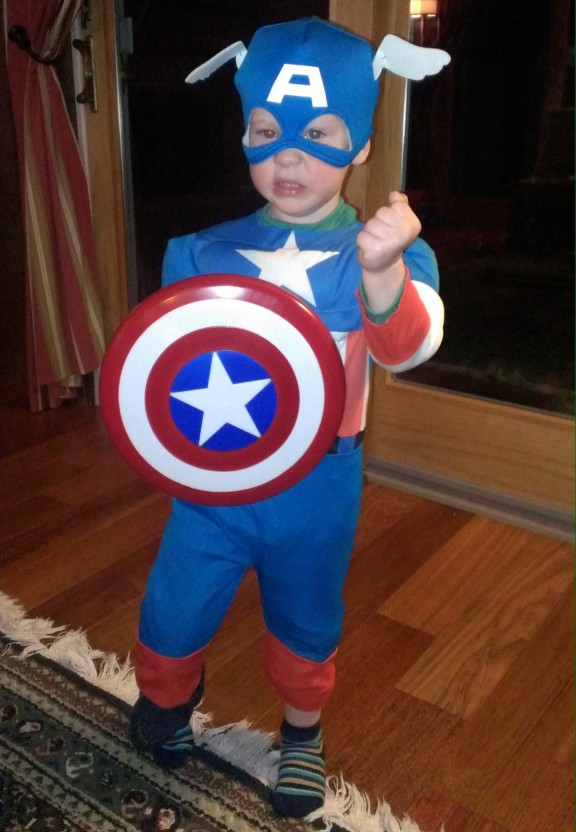 Captain America, he saves the world and still makes it home for his afternoon nap.