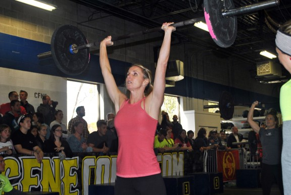 Ashley R. eats thrusters for breakfast...well not really she probably eats something else, but she's really good at thrusters.
