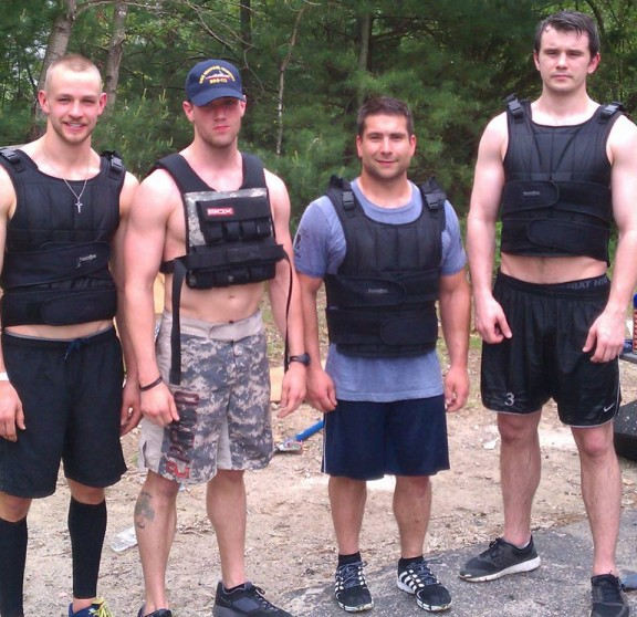 Throwback Thursday. Aj, Leard, Daigle, and Maloney doing vested Murph. Looking good gents.
