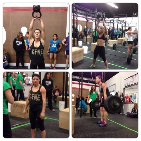 Some strong ladies representing CFNE at Crossfit Union!