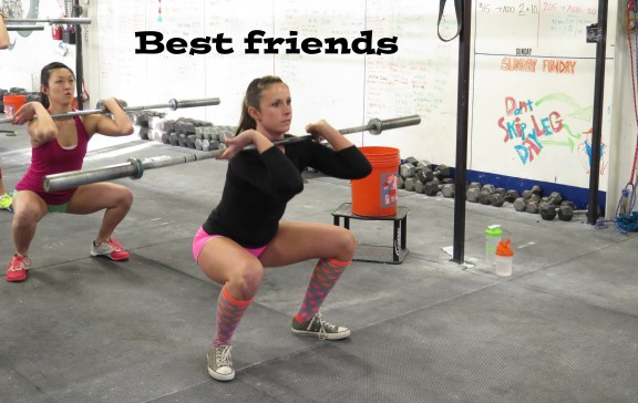 Best friends do everything together, especially front squat.