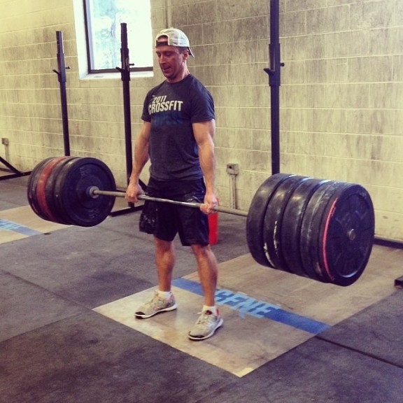 Craig doing 3 x bodyweight deadlift...well at least 2 x bodyweight...it's a lot of weight.