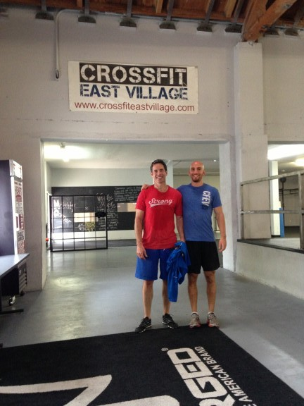 Scott and my good buddy Dave throwing down at CrossFit East Village. Small World.