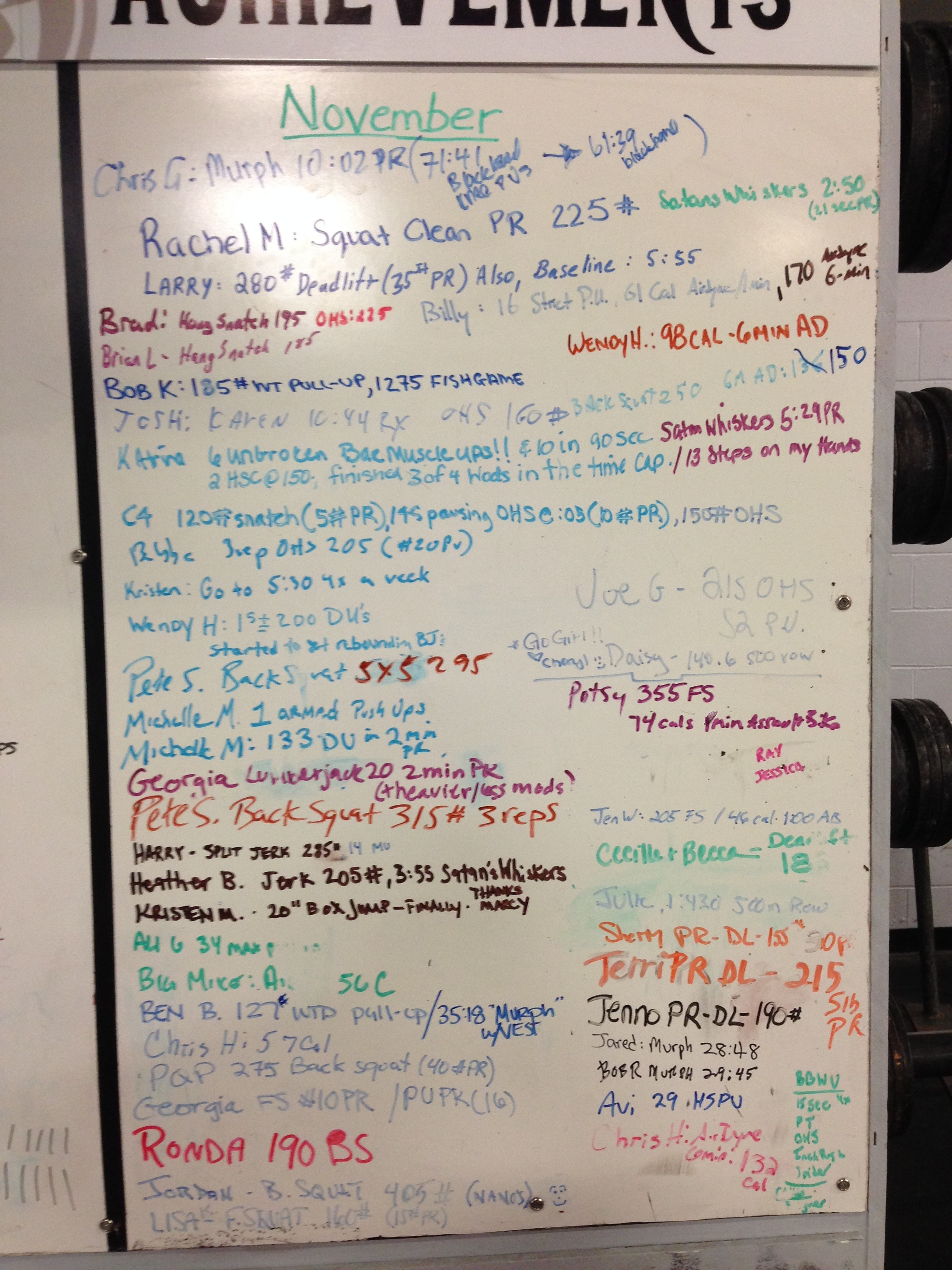 November Achievements! This has got to be the most PACKED board, all time. Way to go CFNE!